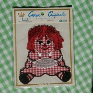 Vintage Patch or Applique Raggedy Ann Sew On Cute